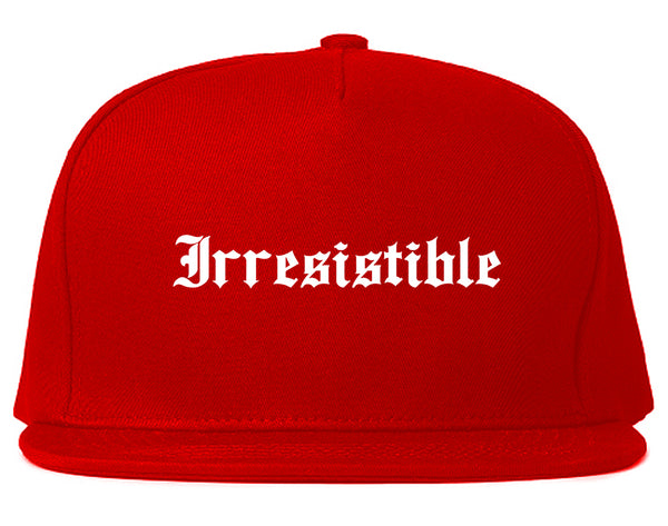 Irresistible Goth Graphic Snapback Hat Red