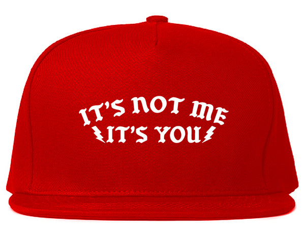 Its Not Me Snapback Hat Red