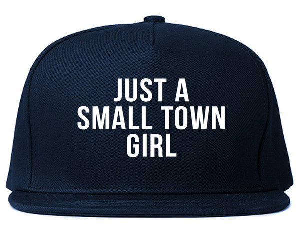 Just A Small Town Girl Country Snapback Hat Blue