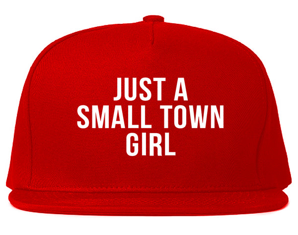Just A Small Town Girl Country Snapback Hat Red