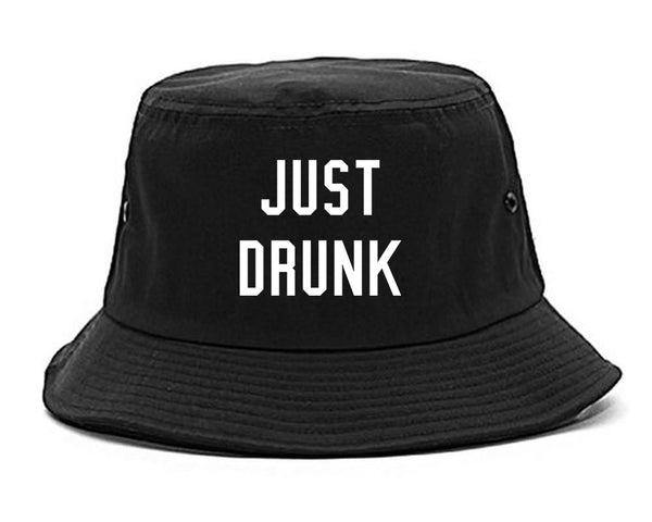 Just Drunk Bridal Party black Bucket Hat