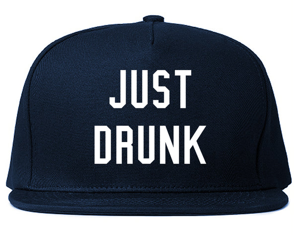 Just Drunk Bridal Party Blue Snapback Hat