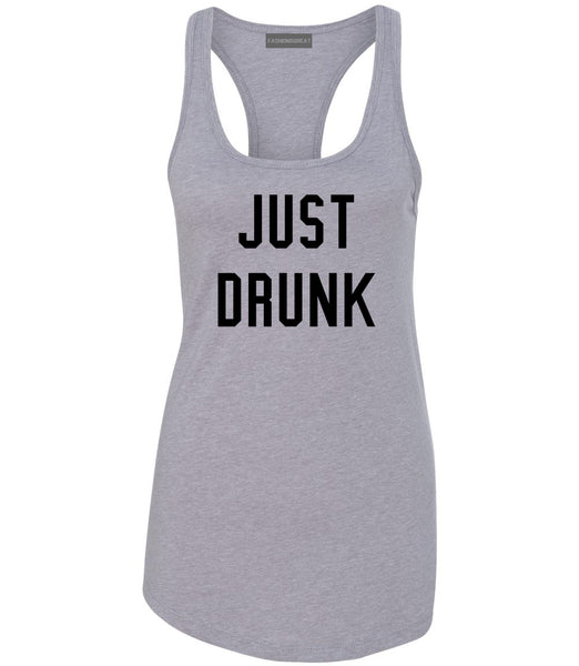 Just Drunk Bridal Party Grey Womens Racerback Tank Top