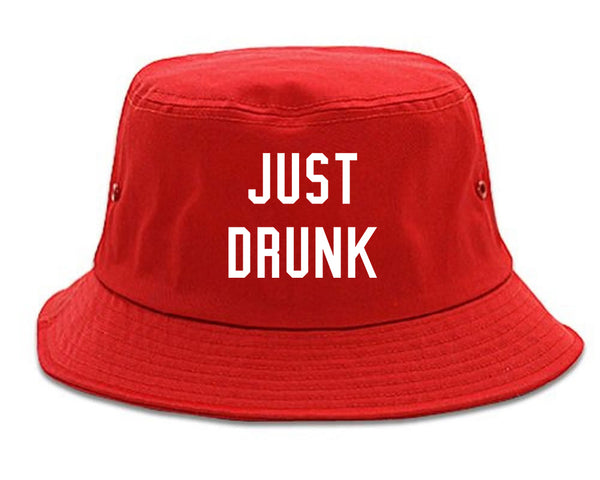 Just Drunk Bridal Party red Bucket Hat