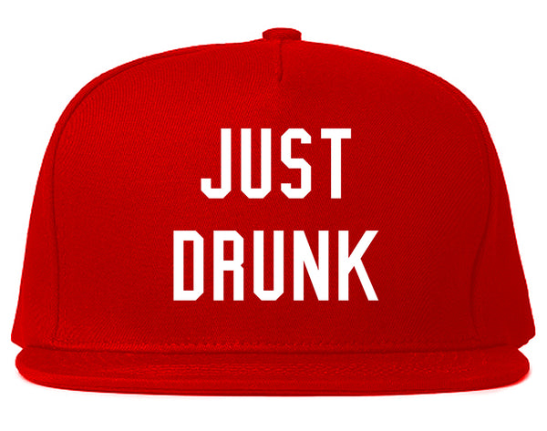 Just Drunk Bridal Party Red Snapback Hat