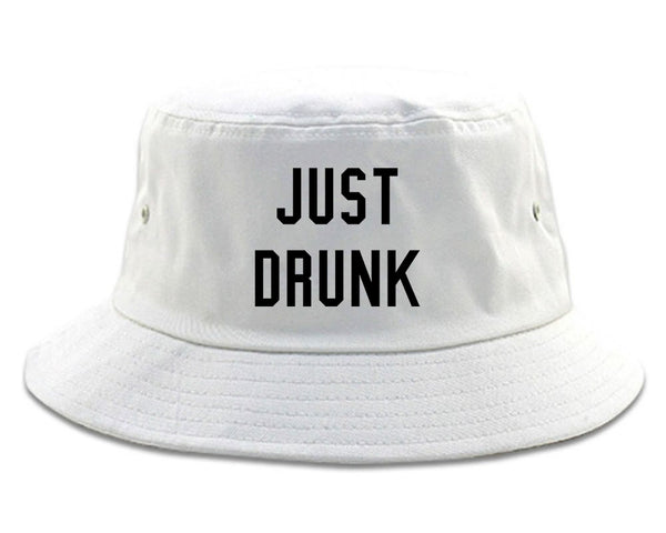 Just Drunk Bridal Party white Bucket Hat