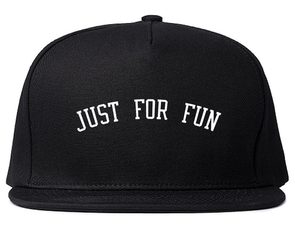 Just For Fun Snapback Hat Black