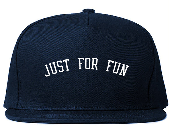 Just For Fun Snapback Hat Blue