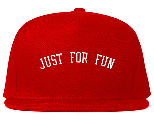 Just For Fun Snapback Hat Red