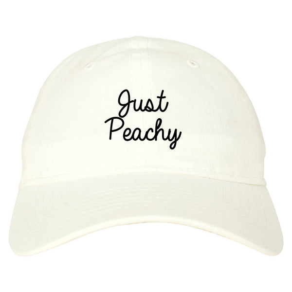 Just Peachy Script White Dad Hat