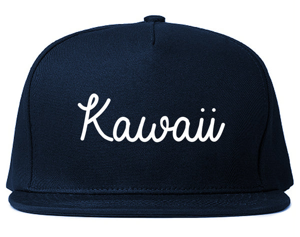 Kawaii Cute Script Chest Blue Snapback Hat