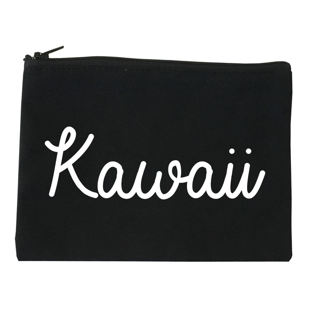 Kawaii Cute Script Chest black Makeup Bag