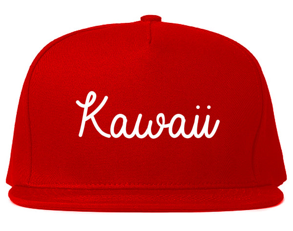 Kawaii Cute Script Chest Red Snapback Hat