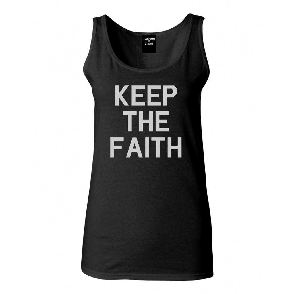 Keep The Faith Inspirational Black Tank Top