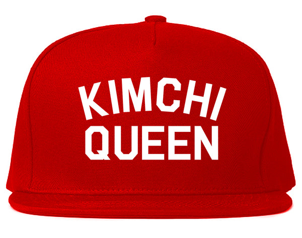 Kimchi Queen Food Red Snapback Hat