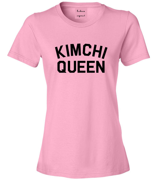 Kimchi Queen Food Pink Womens T-Shirt