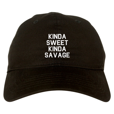 Kinda Sweet Kinda Savage Black Dad Hat