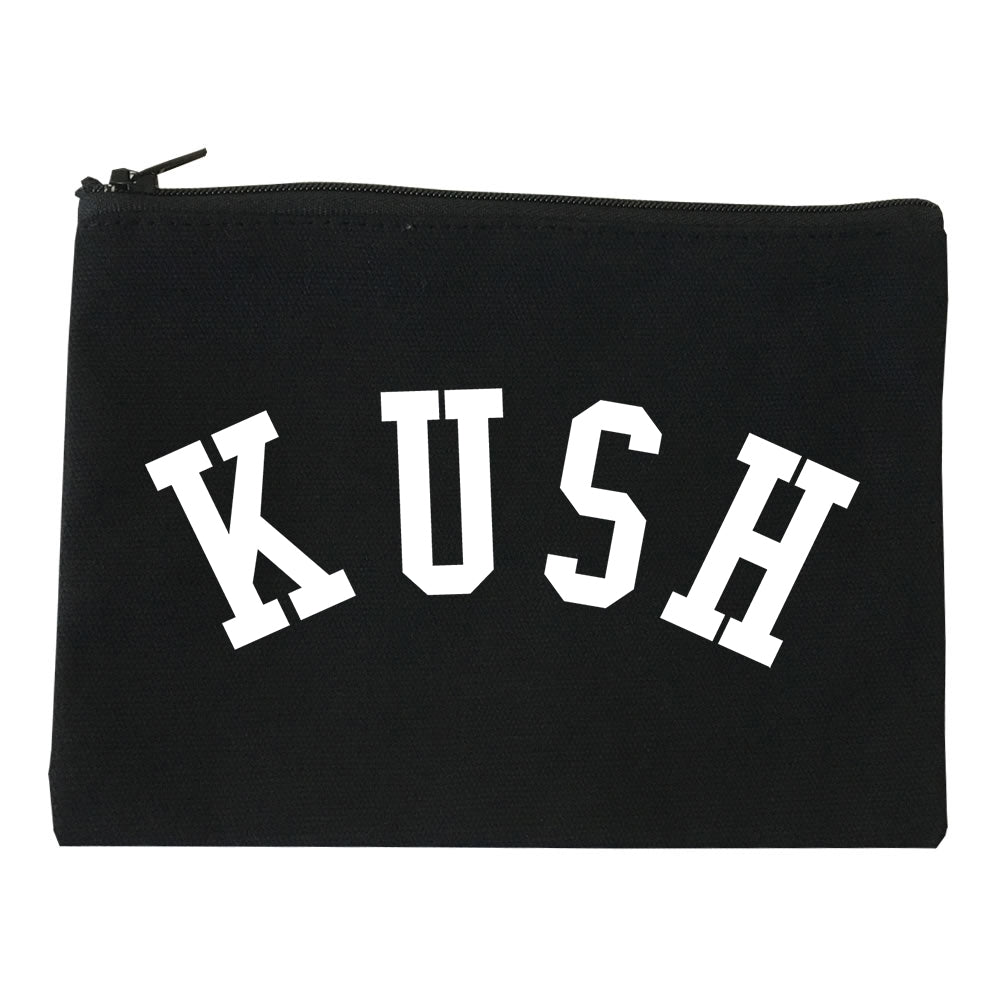 Kush Curved College Weed Makeup Bag Red