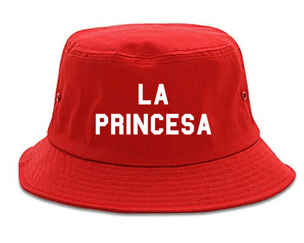 La Princesa Spanish Chest red Bucket Hat