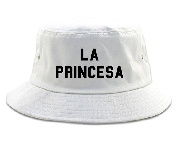 La Princesa Spanish Chest white Bucket Hat