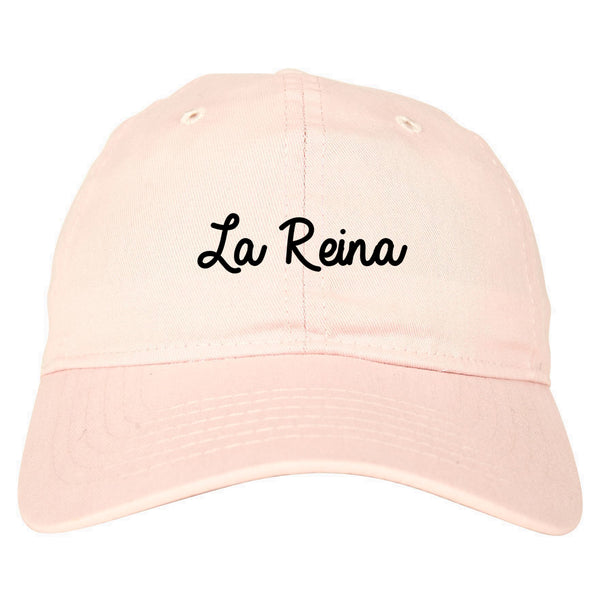 La Reina Spanish Queen Chest pink dad hat
