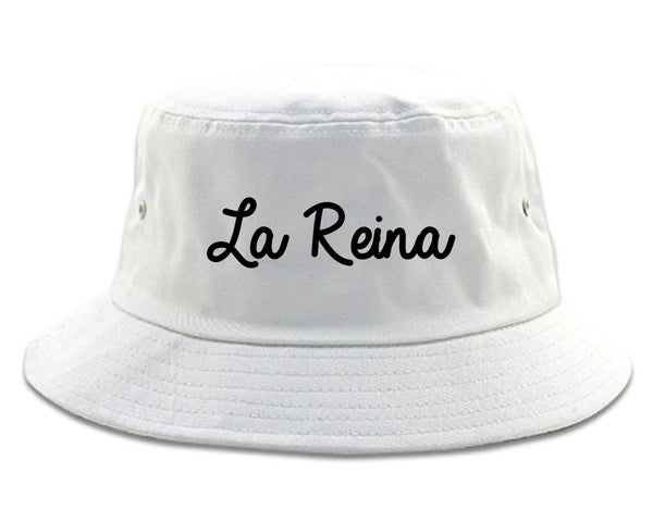 La Reina Spanish Queen Chest white Bucket Hat