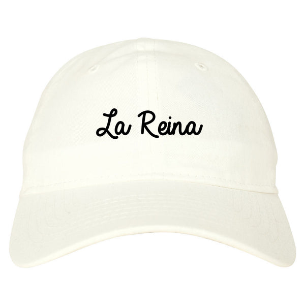 La Reina Spanish Queen Chest white dad hat