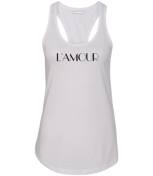 Lamour Love Womens Racerback Tank Top White