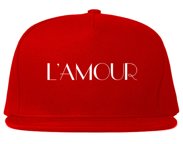 Lamour Love Snapback Hat Red