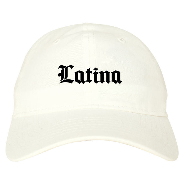 Latina Old English Spanish white dad hat