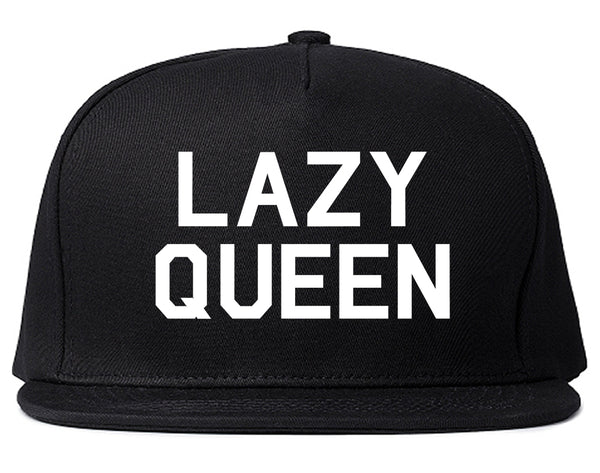 Lazy Queen Black Snapback Hat