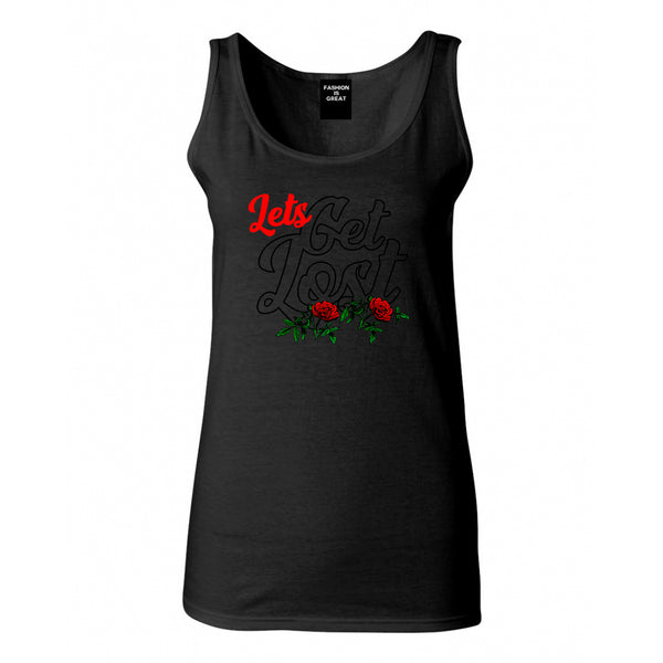 Lets Get Lost Womens Tank Top Shirt Black