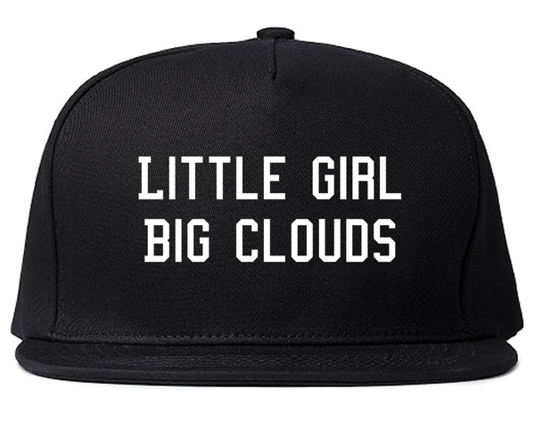 Little Girl Big Clouds Snapback Hat Black