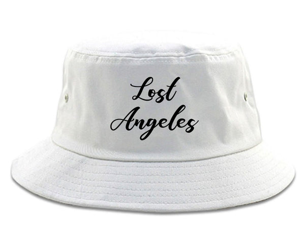 Lost Angeles Los Cali white Bucket Hat