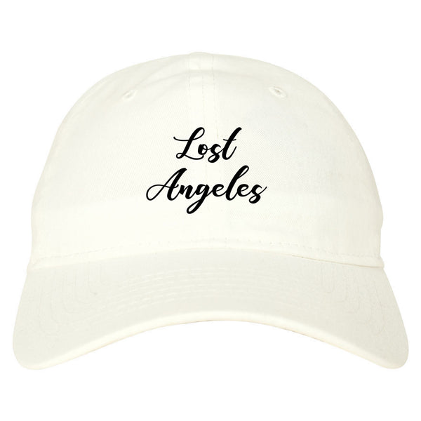Lost Angeles Los Cali white dad hat