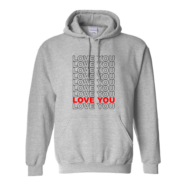 Love You Thank You Grey Womens Pullover Hoodie
