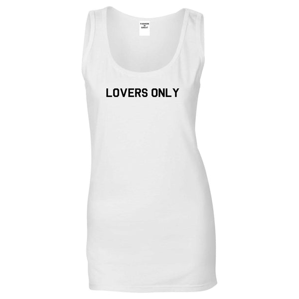 Lovers Only White Womens Tank Top