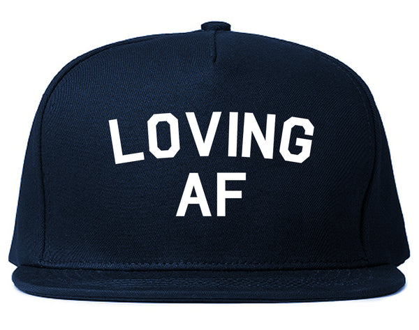 Loving AF Love Snapback Hat Blue