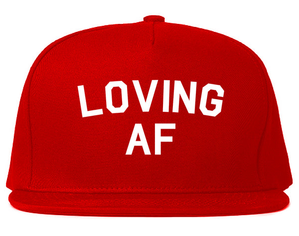Loving AF Love Snapback Hat Red