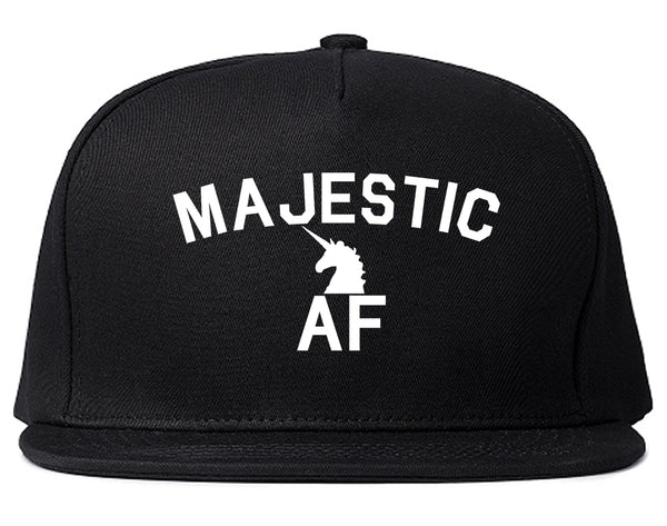 Majestic AF Unicorn Magical Snapback Hat Black