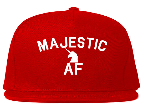 Majestic AF Unicorn Magical Snapback Hat Red