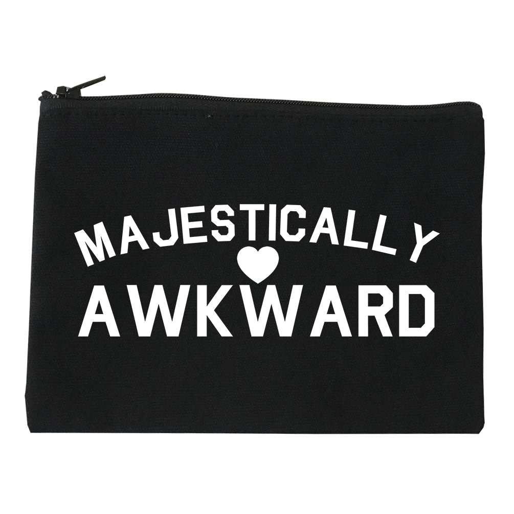 Majestically Awkward Heart Geek Makeup Bag Red