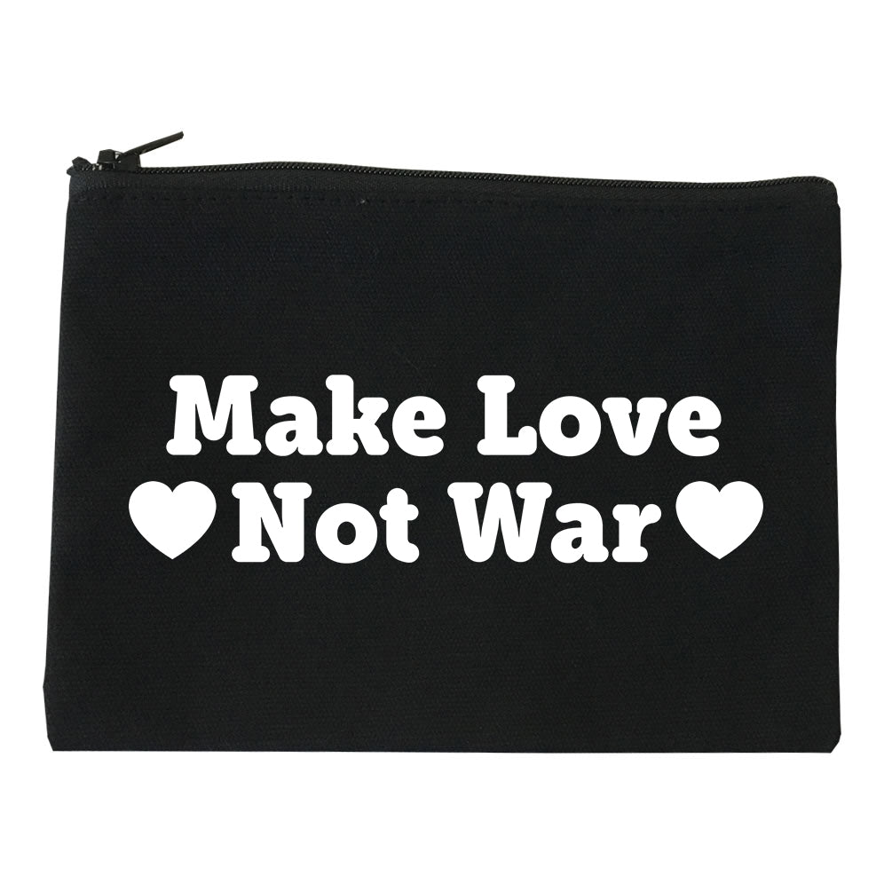 Make Love Not War Hearts Makeup Bag Red
