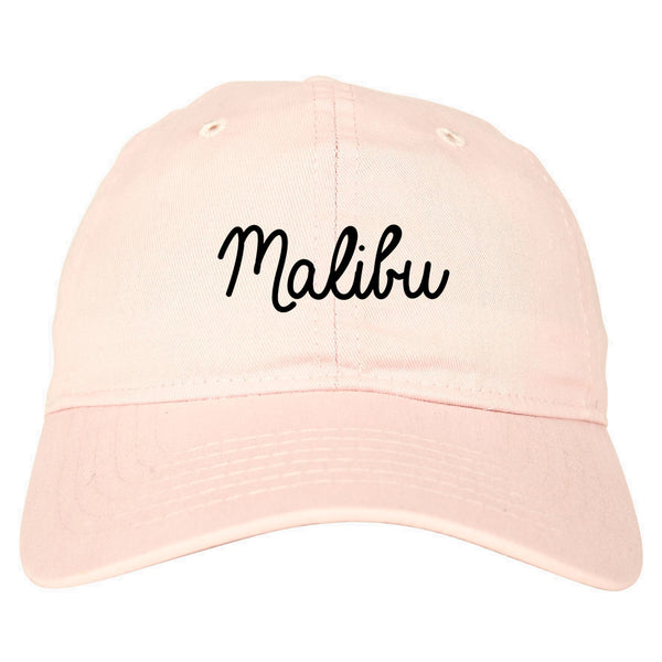 Malibu California Chest pink dad hat