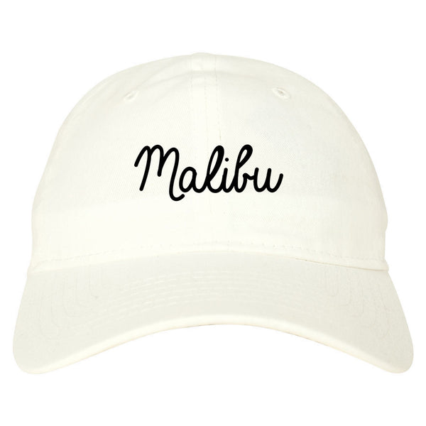 Malibu California Chest white dad hat
