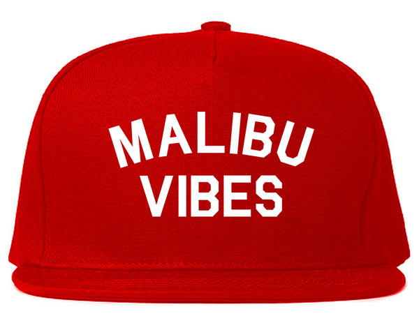 Malibu Vibes Cali California Red Snapback Hat