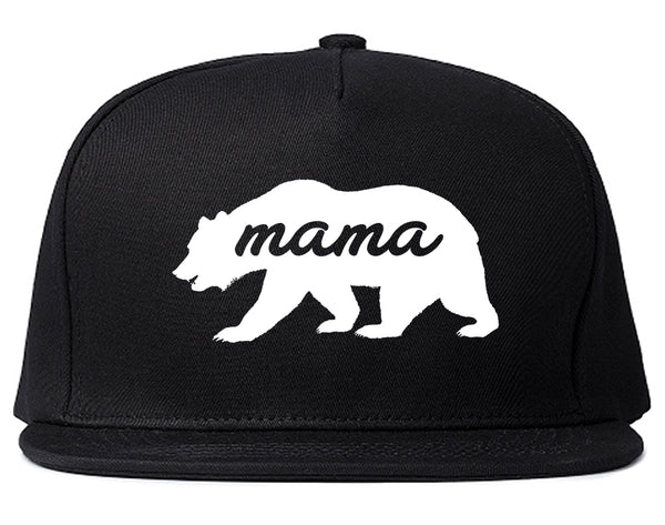 Mama Bear Animal Black Snapback Hat