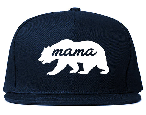 Mama Bear Animal Blue Snapback Hat