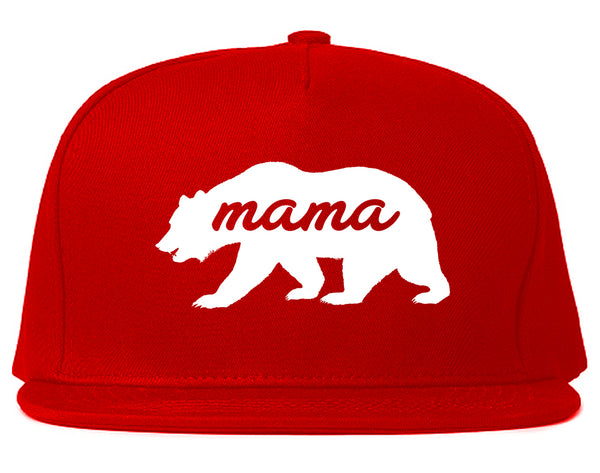 Mama Bear Animal Red Snapback Hat