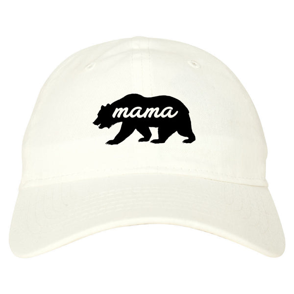 Mama Bear Animal white dad hat